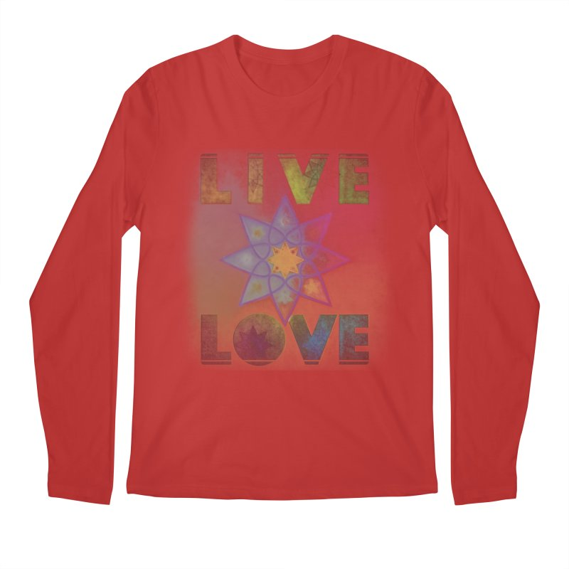 Live Love Octagram Men's Regular Longsleeve T-Shirt by An Authentic Piece