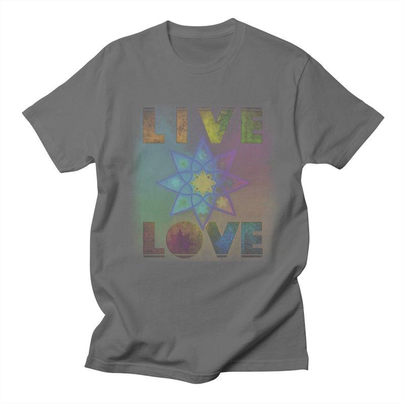 Live Love Octagram Men's T-Shirt by An Authentic Piece