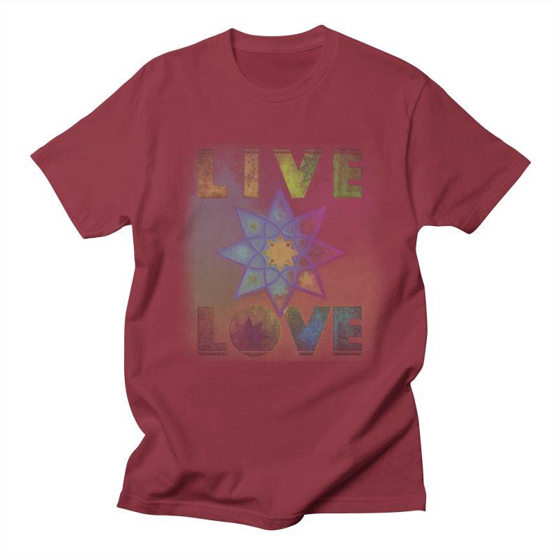 Live Love Octagram Women's Regular Unisex T-Shirt by An Authentic Piece