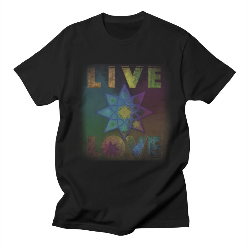 Live Love Octagram Men's Regular T-Shirt by An Authentic Piece