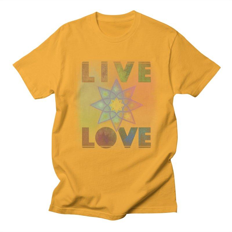 Live Love Octagram Men's Regular T-Shirt by An Authentic Piece