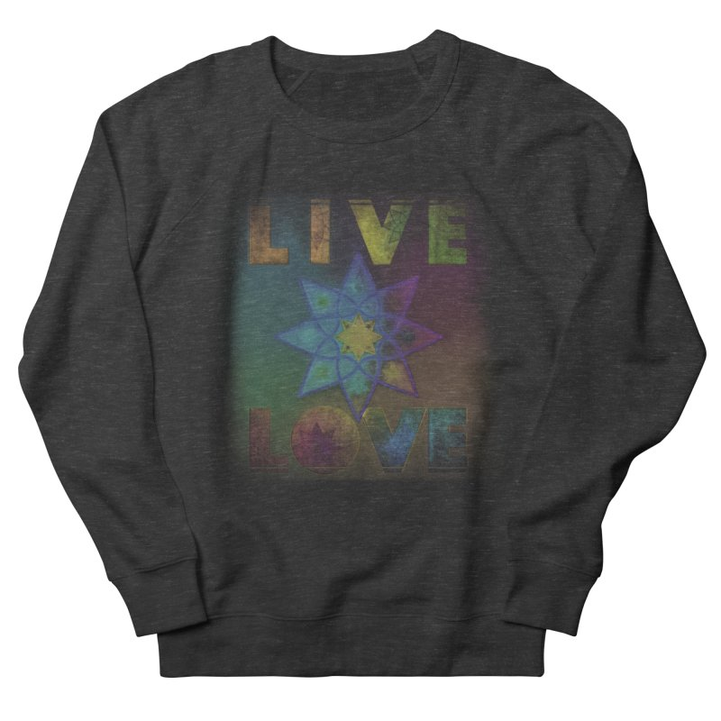Live Love Octagram Women's French Terry Sweatshirt by An Authentic Piece