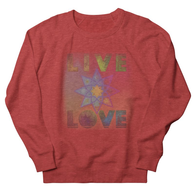 Live Love Octagram Men's French Terry Sweatshirt by An Authentic Piece
