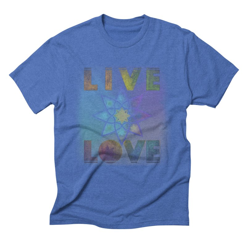 Live Love Octagram Men's Triblend T-Shirt by An Authentic Piece