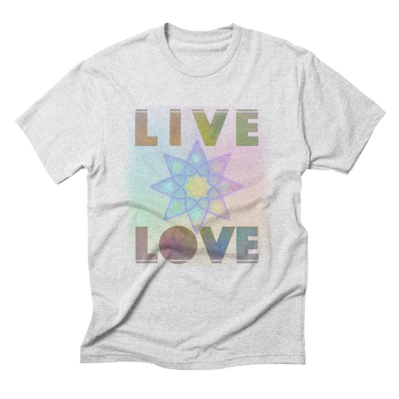 Live Love Octagram Men's Triblend T-Shirt by An Authentic Piece