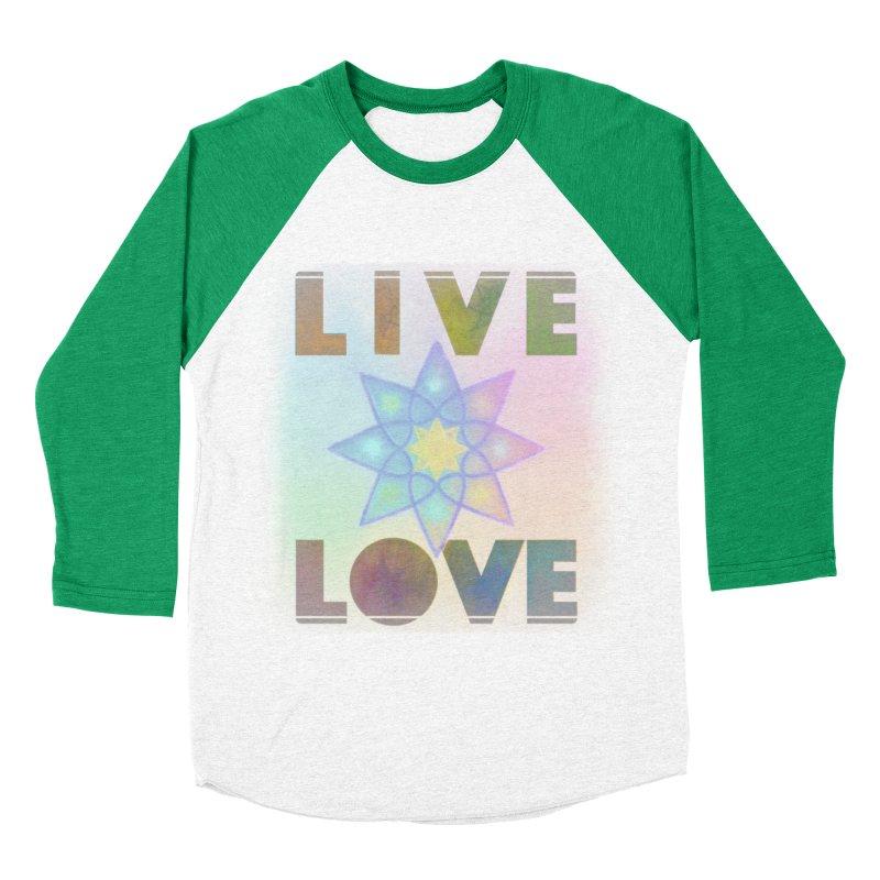 Live Love Octagram Women's Baseball Triblend Longsleeve T-Shirt by An Authentic Piece