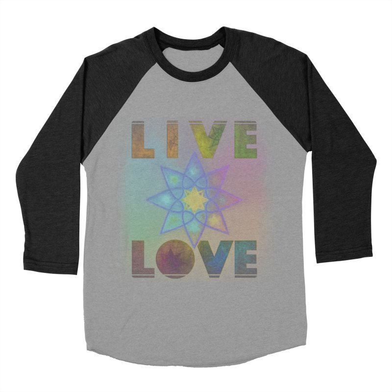 Live Love Octagram Women's Baseball Triblend Longsleeve T-Shirt by An Authentic Piece