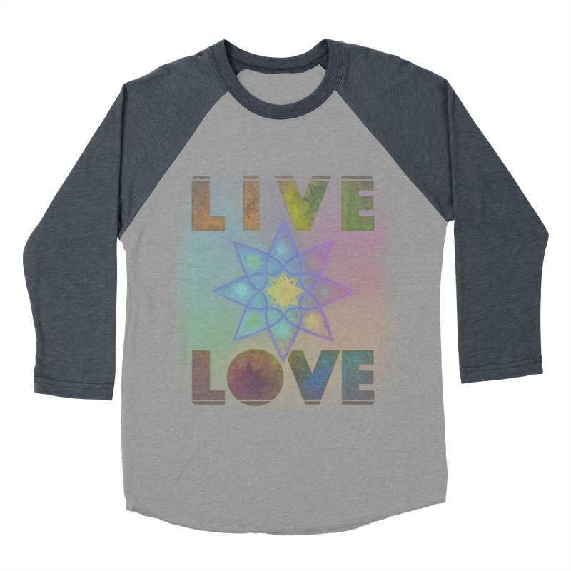 Live Love Octagram Men's Baseball Triblend Longsleeve T-Shirt by An Authentic Piece