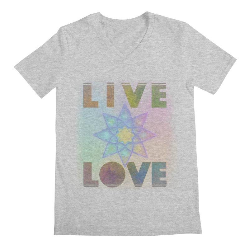 Live Love Octagram Men's Regular V-Neck by An Authentic Piece