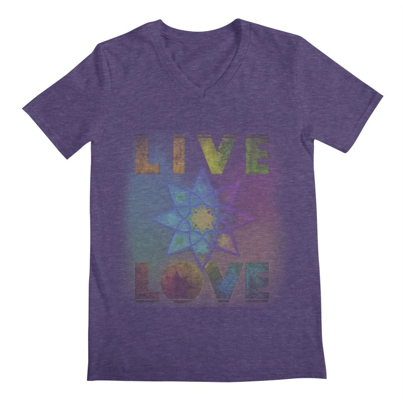 Live Love Octagram Men's Regular V-Neck by An Authentic Piece