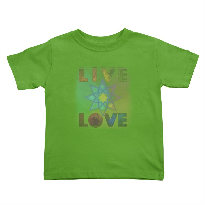Live Love Octagram Kids Toddler T-Shirt by An Authentic Piece