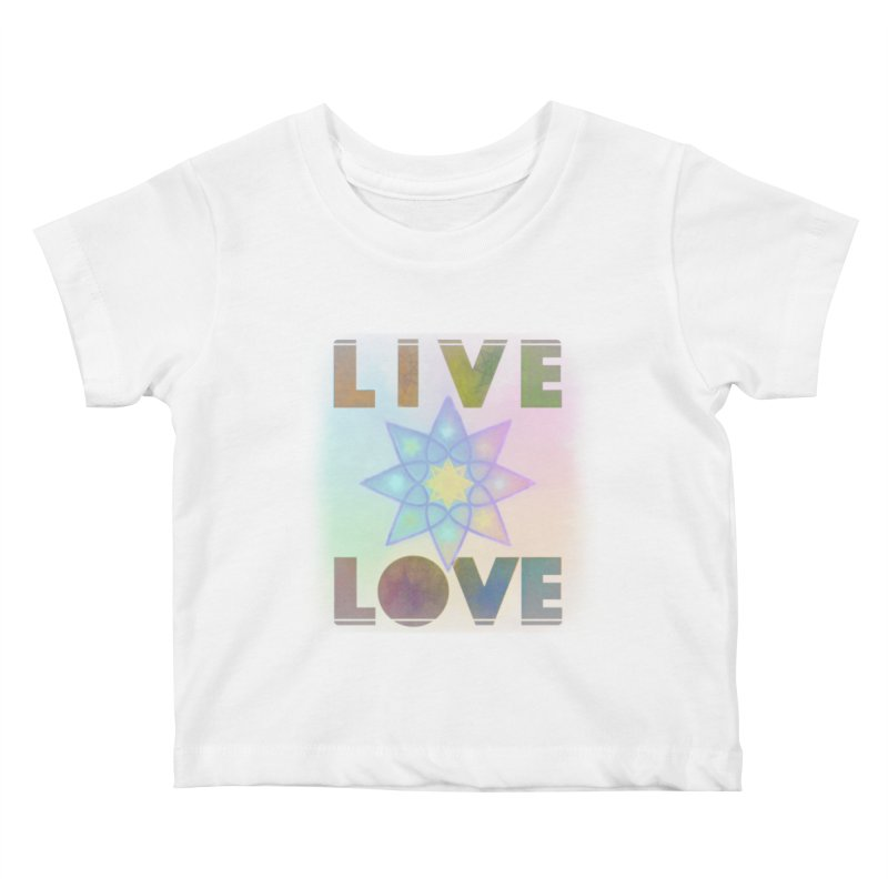 Live Love Octagram Kids Baby T-Shirt by An Authentic Piece