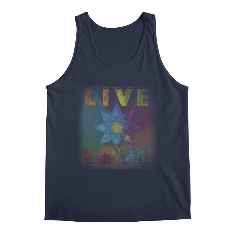 Live Love Octagram Men's Regular Tank by An Authentic Piece