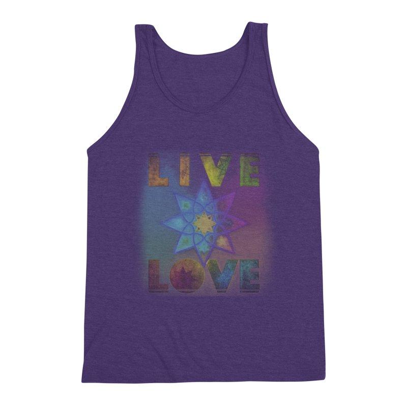 Live Love Octagram Men's Triblend Tank by An Authentic Piece