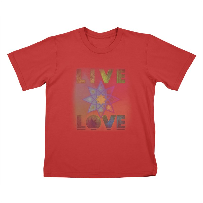 Live Love Octagram Kids T-Shirt by An Authentic Piece