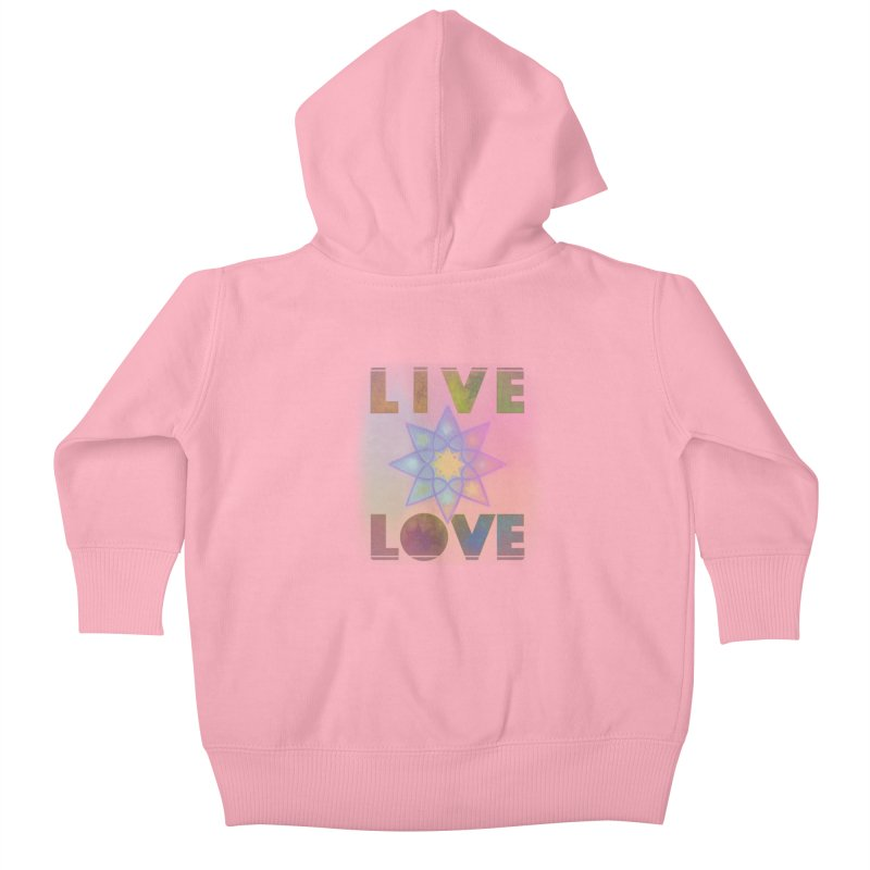 Live Love Octagram Kids Baby Zip-Up Hoody by An Authentic Piece