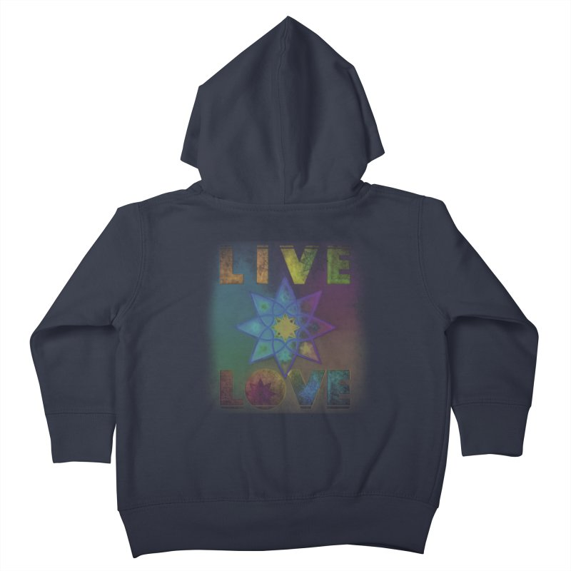 Live Love Octagram Kids Toddler Zip-Up Hoody by An Authentic Piece