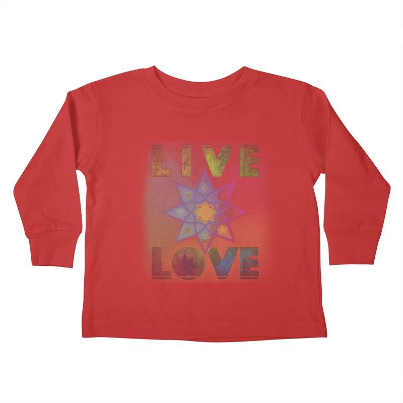 Live Love Octagram Kids Toddler Longsleeve T-Shirt by An Authentic Piece