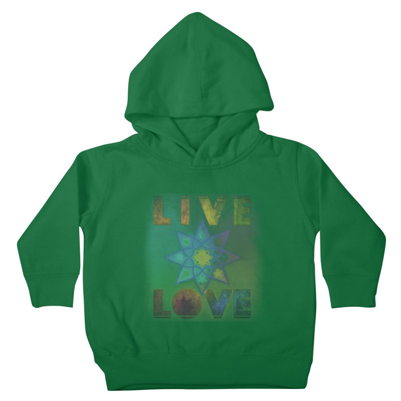 Live Love Octagram Kids Toddler Pullover Hoody by An Authentic Piece