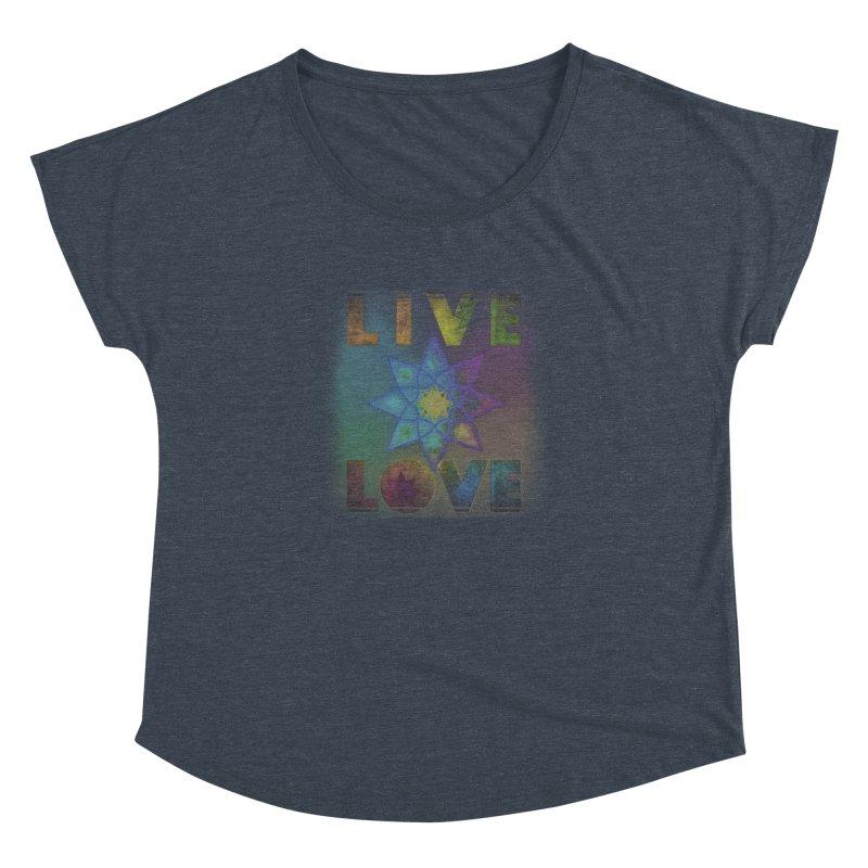 Live Love Octagram Women's Dolman Scoop Neck by An Authentic Piece