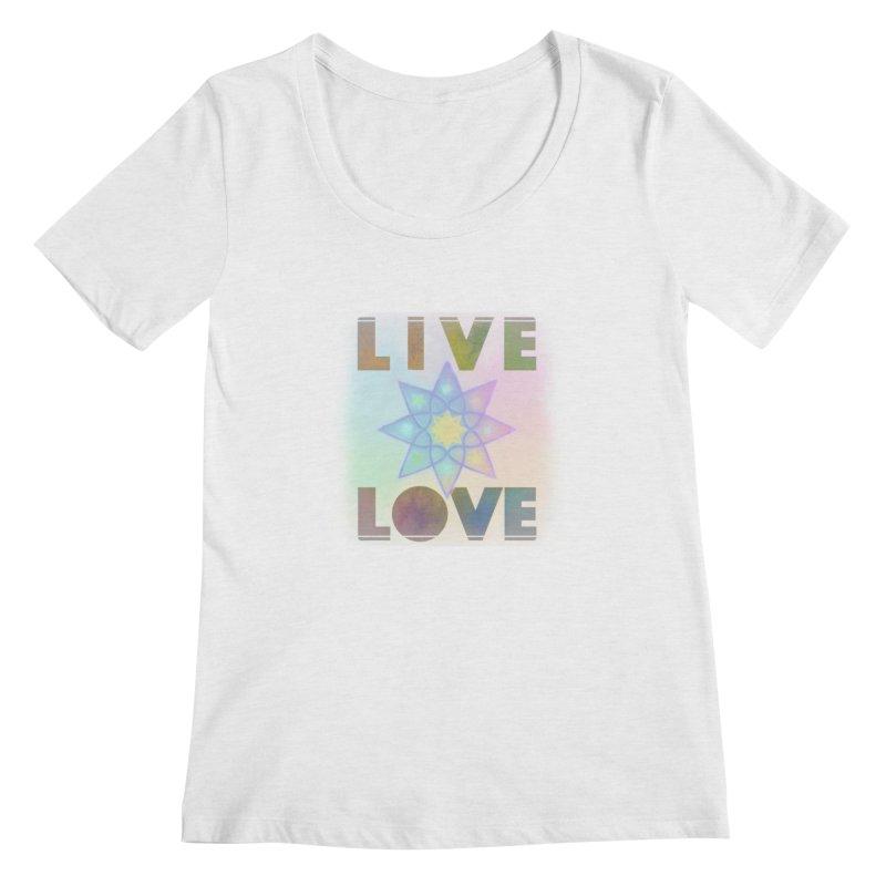 Live Love Octagram Women's Regular Scoop Neck by An Authentic Piece