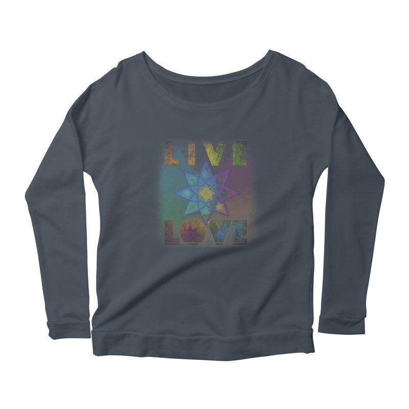 Live Love Octagram Women's Scoop Neck Longsleeve T-Shirt by An Authentic Piece