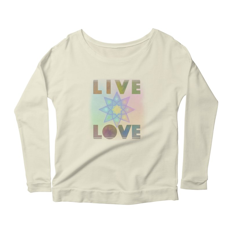 Live Love Octagram Women's Scoop Neck Longsleeve T-Shirt by An Authentic Piece