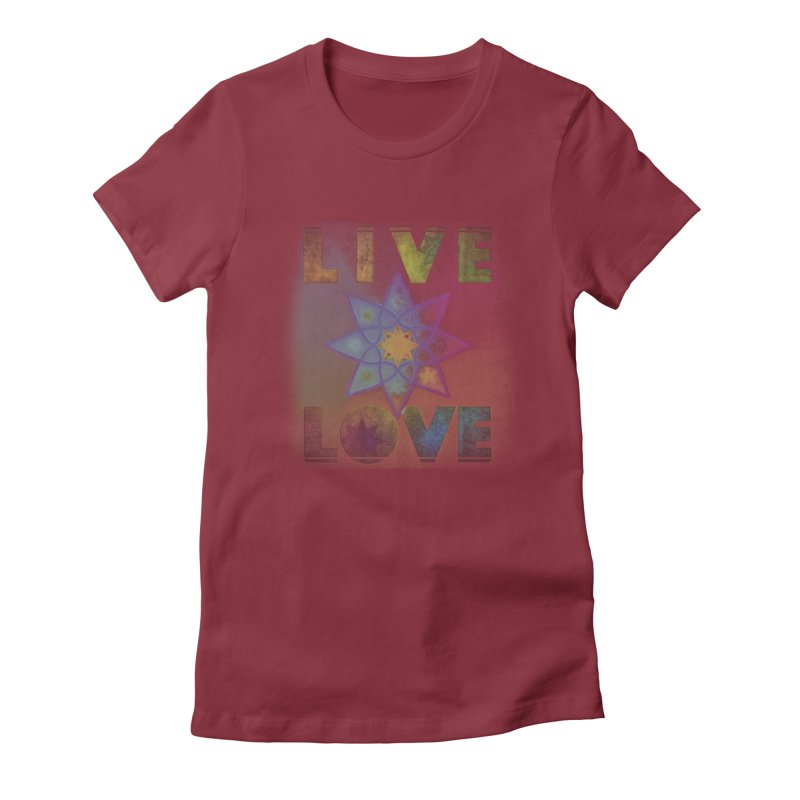 Live Love Octagram Women's Fitted T-Shirt by An Authentic Piece