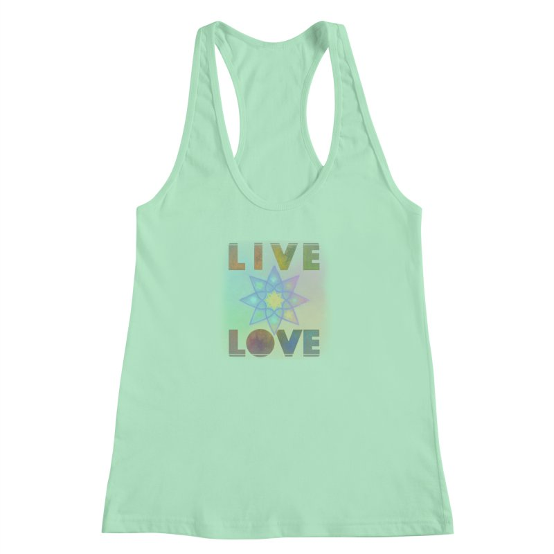 Live Love Octagram Women's Racerback Tank by An Authentic Piece