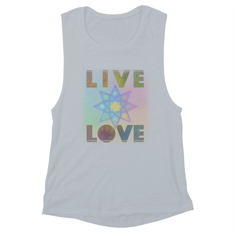 Live Love Octagram Women's Muscle Tank by An Authentic Piece