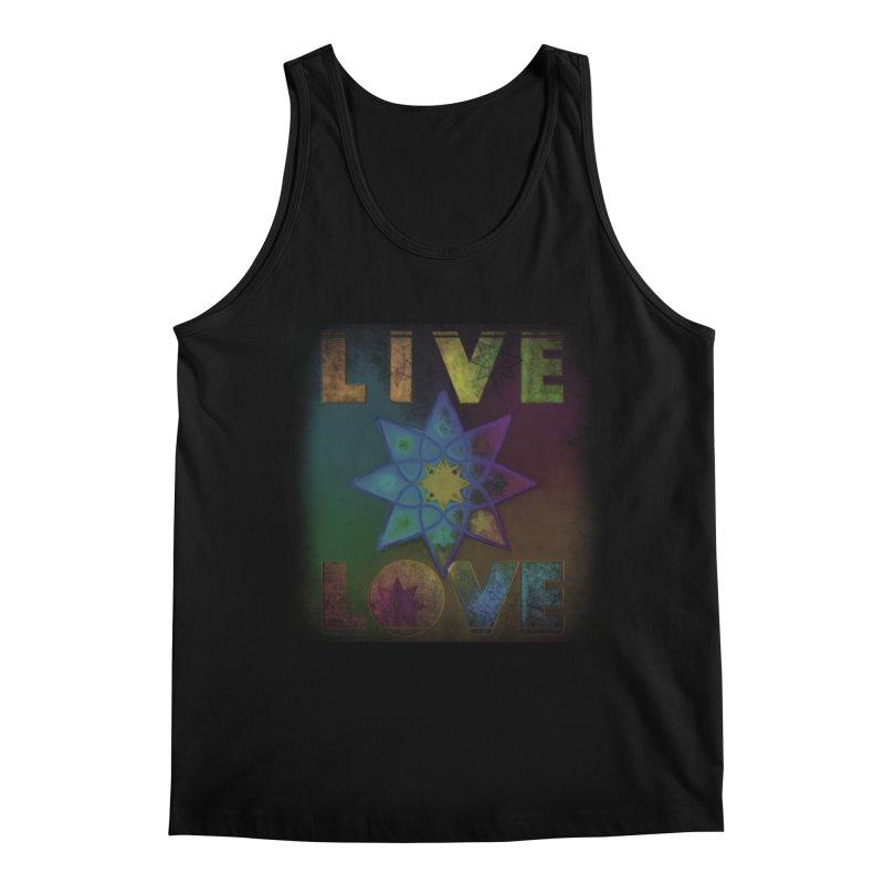 Live Love Octagram Men's Regular Tank by An Authentic Piece
