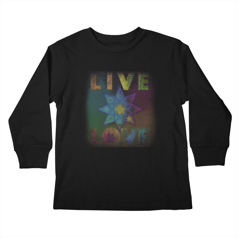 Live Love Octagram Kids Longsleeve T-Shirt by An Authentic Piece