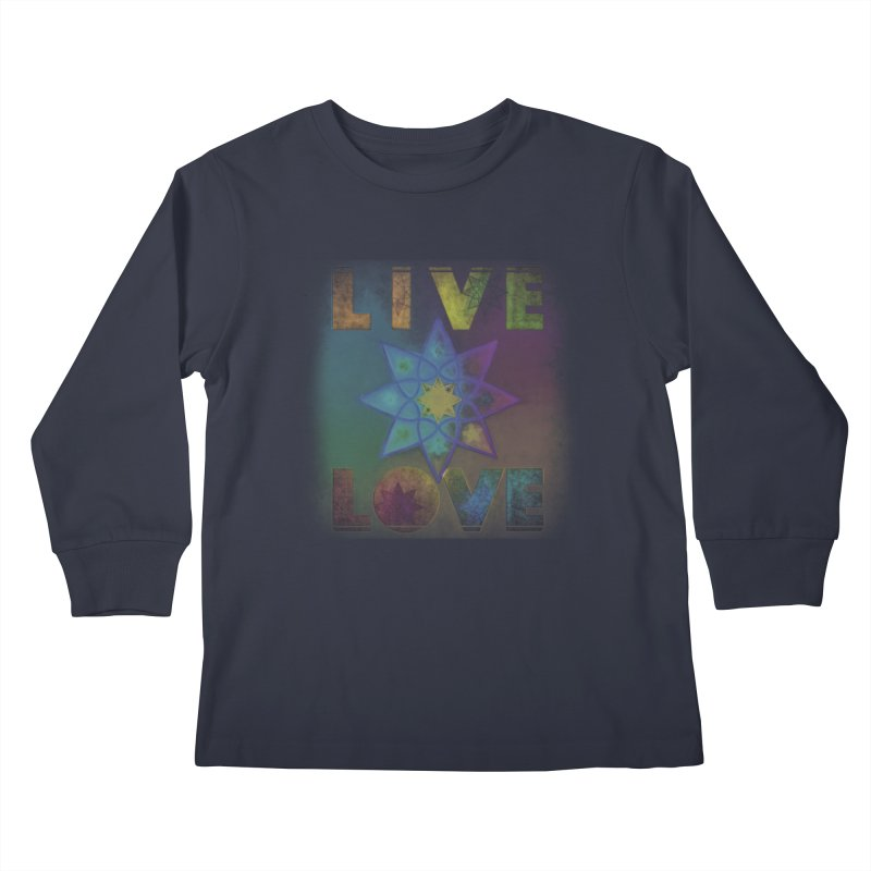 Live Love Octagram Kids Longsleeve T-Shirt by An Authentic Piece