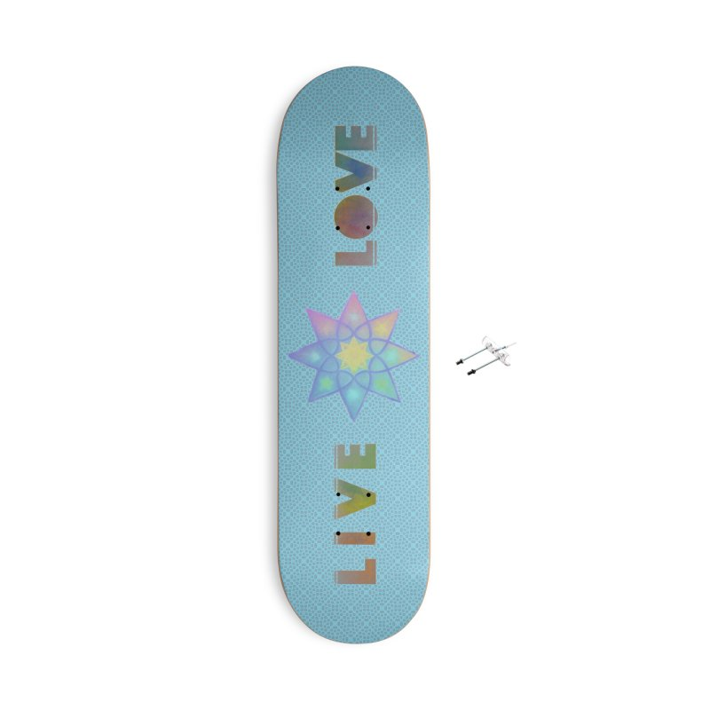 Live Love Octagram Accessories With Hanging Hardware Skateboard by An Authentic Piece