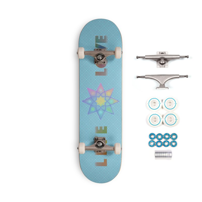 Live Love Octagram Accessories Complete - Basic Skateboard by An Authentic Piece