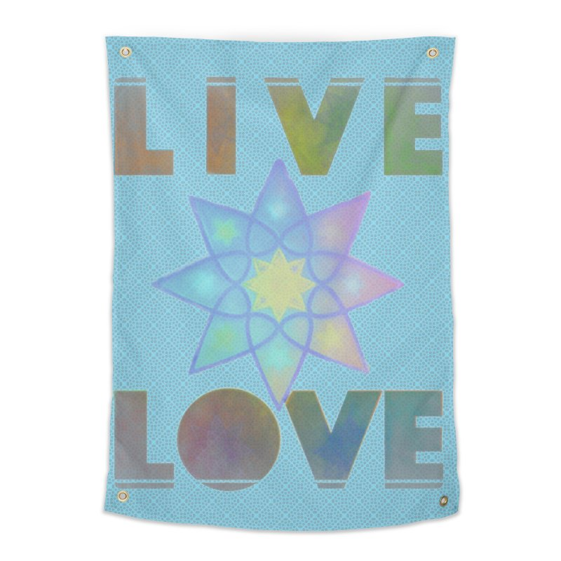 Live Love Octagram Home Tapestry by An Authentic Piece