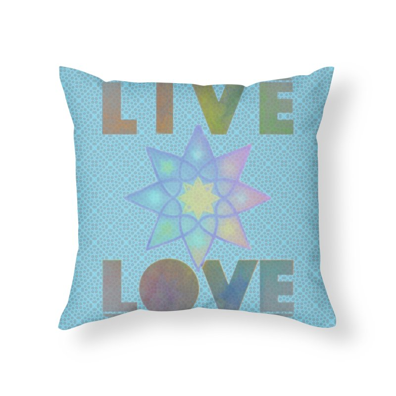 Live Love Octagram Home Throw Pillow by An Authentic Piece