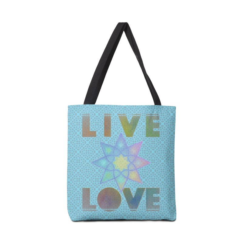 Live Love Octagram Accessories Tote Bag Bag by An Authentic Piece