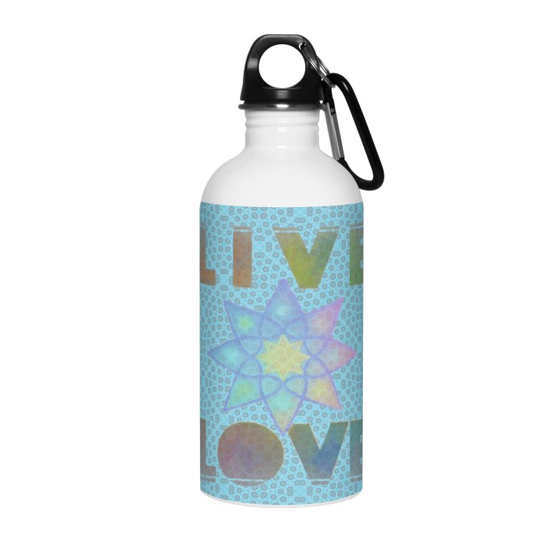 Live Love Octagram Accessories Water Bottle by An Authentic Piece