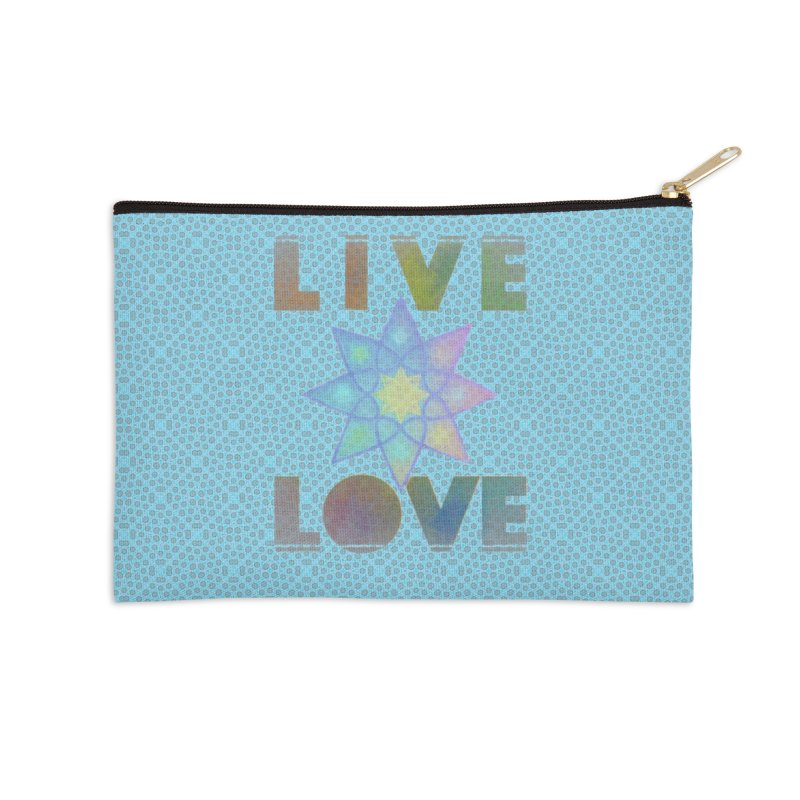 Live Love Octagram Accessories Zip Pouch by An Authentic Piece