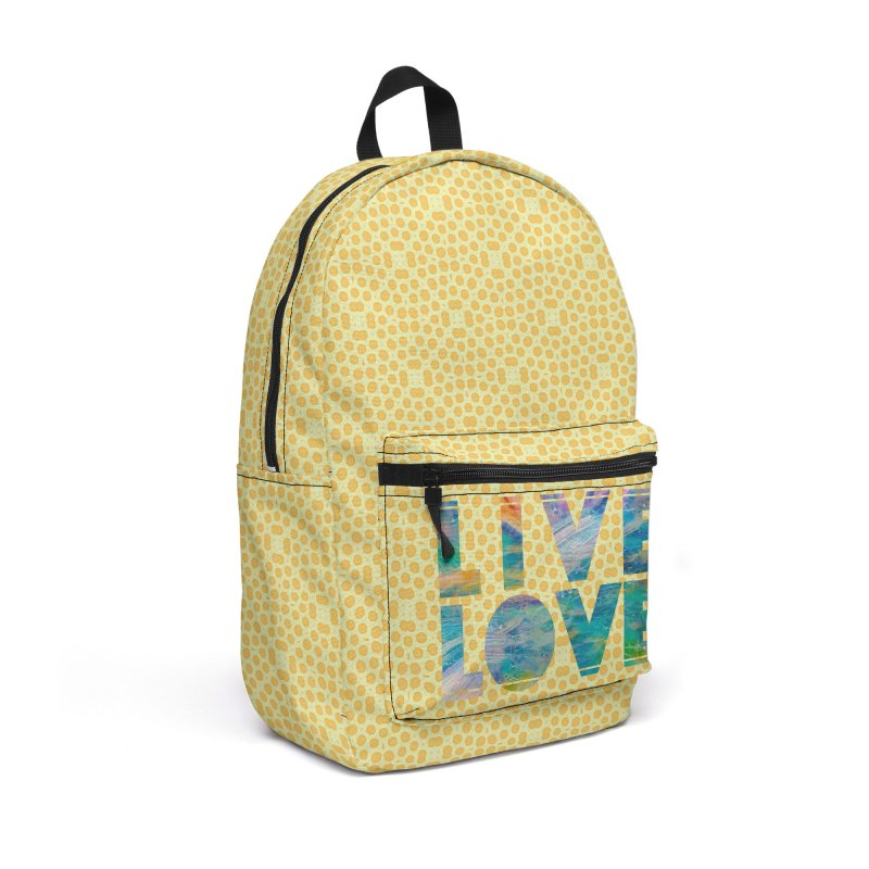 Live Love Accessories Backpack Bag by An Authentic Piece