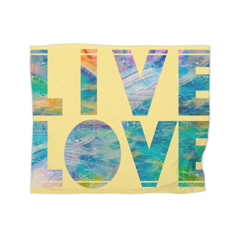 Live Love Home Fleece Blanket Blanket by An Authentic Piece