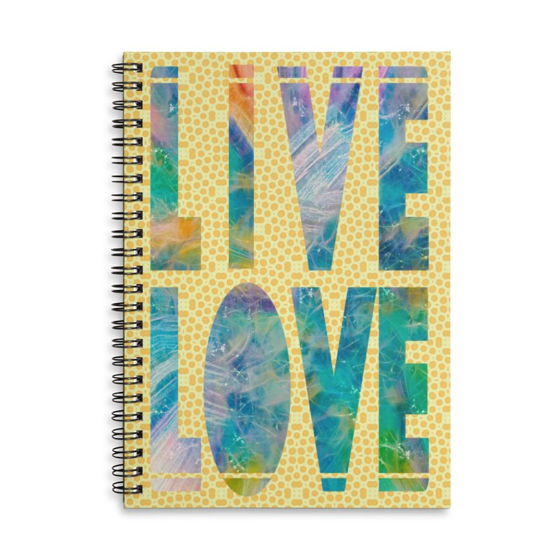 Live Love Accessories Lined Spiral Notebook by An Authentic Piece