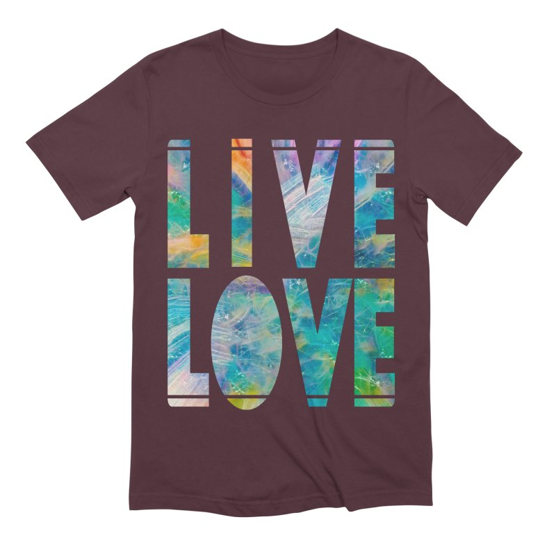Live Love Men's Extra Soft T-Shirt by An Authentic Piece
