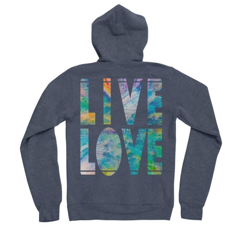 Live Love Men's Sponge Fleece Zip-Up Hoody by An Authentic Piece