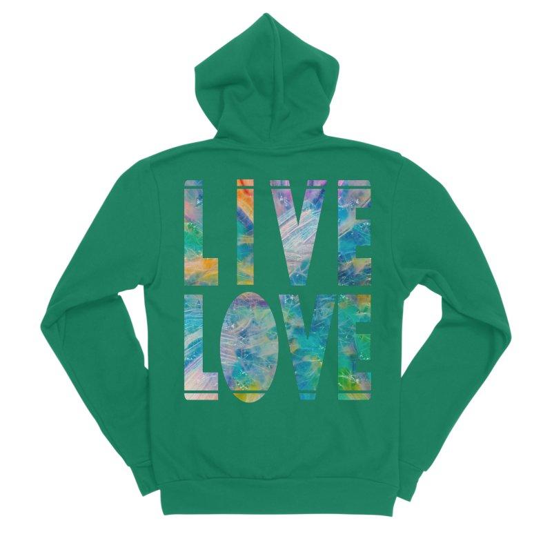 Live Love Women's Sponge Fleece Zip-Up Hoody by An Authentic Piece