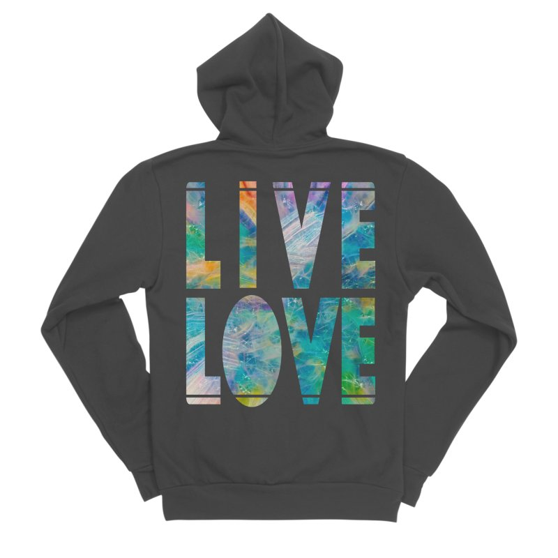 Live Love Men's Sponge Fleece Zip-Up Hoody by An Authentic Piece