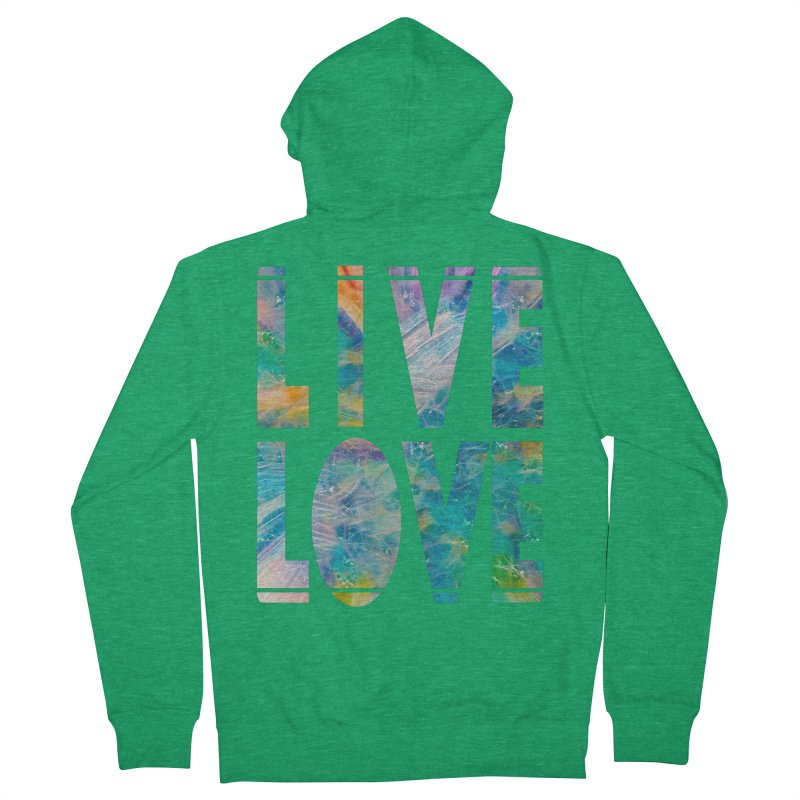 Live Love Men's Zip-Up Hoody by An Authentic Piece