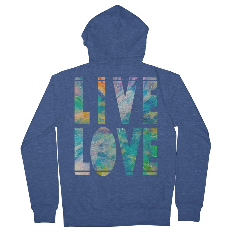 Live Love Men's French Terry Zip-Up Hoody by An Authentic Piece