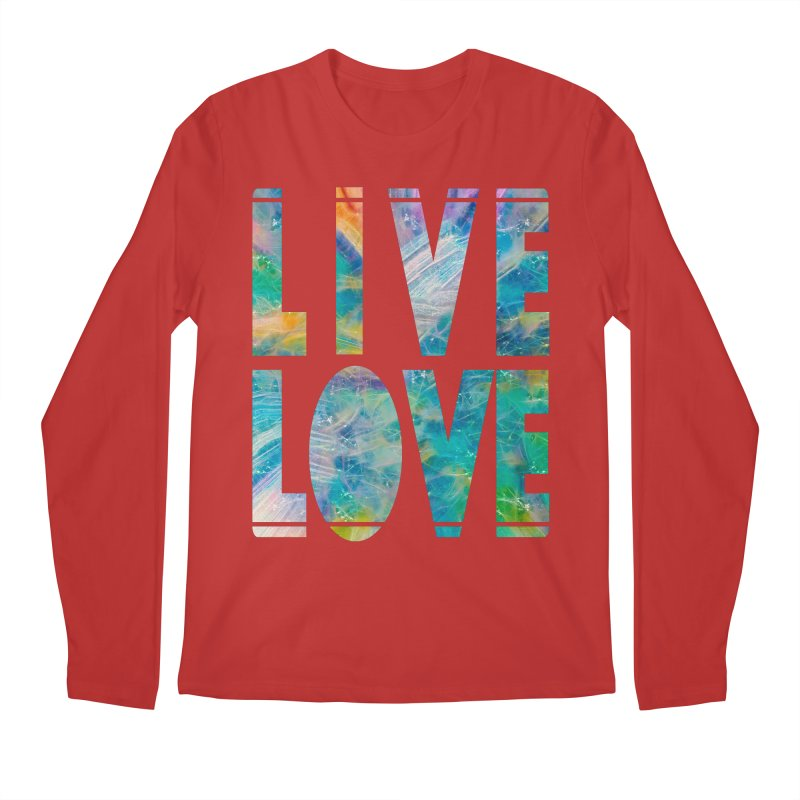 Live Love Men's Regular Longsleeve T-Shirt by An Authentic Piece